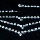 "Vintage Set Rhinestones 15 1/2"" Necklace"