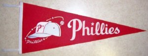 1960's Phillies Vintage Felt Pennant