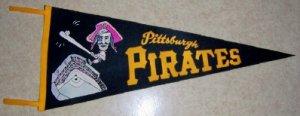 1960's Pittsburg Pirates  Vintage Felt Pennant