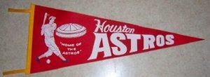 1960's Houston Astros Vintage Felt Pennant