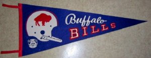 1960's  AFL Buffalo Bills  Vintage Felt Pennant