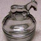 Donkey Covered Glass Powder Jar