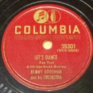 Lets Dance   78 RPM Record   Columbia