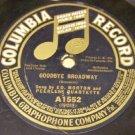 Goodbye Broadway 78 RPM Record Columbia