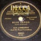 Blue Tango  78 RPM Record on DECCA Label