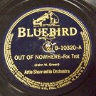 Out Of Nowhere 78 RPM on Bluebird Label