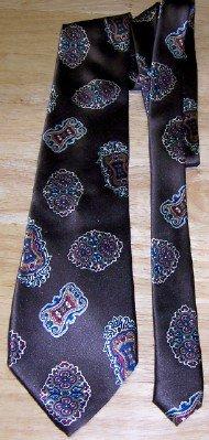Vintage Brown Silk Necktie