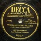 "The Blue Skirt Waltz 78 RPM on Decca 10"" Record"