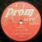 """Sin, The Four Dukes on Prom Hit, 78 RPM 10"""" record"""