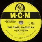 The Angel Passed By 78 RPM on MGM Label