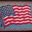 "81/2"" X 51/4"" American  Tobacco Flag"