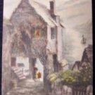 Clovelly,Temple Bar by Moonlight - English Postcard