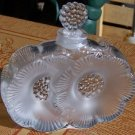 Vintage Lalique Double Flower Perfume Bottle