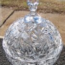 Vintage Cut Lead Crystal  Covered Compote Cir 1960's
