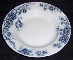 Flow Blue Shallow Bowl, Oban by Alfred Meakin