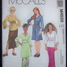 McCall's Sewing Pattern M4506  Girls Tops, Skirt & Pants