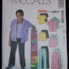 McCall's Sewing Pattern M4498 Girls Top,Skirt and Pants
