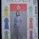 McCall's  M4508 Sewing Pattern Shirts, Bias Dress in 2 Lengths