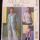 McCall's M4780 Sewing Pattern Misses Shirts in 2 lengths