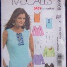 McCall's Sewing Pattern M5105 Misses/Miss Petite Tops