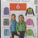 McCall's M4553 Sewing Pattern Childrens/Girls Jacket & Vest