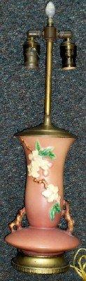 Roseville Pottery Apple Blossom Table Lamp