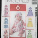 McCall's M4425 Sewing Pattern Infants Dresses,Tops,Pants & Hat