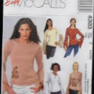 McCall's 4303 Sewing Pattern Misses/Miss Petite Tops
