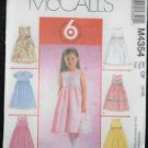 McCalls' M4354 Sewing Pattern Toddlers& Childrens Dresses