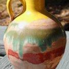 Rainbow Glaze North Carolina Pottery Pitcher  1940-50's