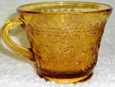 Tiara Sandwich Amber Cup  Set of Two (2)
