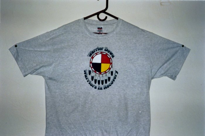 """Warrior Down """"Warriors in Recovery"""" T-Shirt Large"""