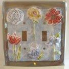 2 switch decorative flower switchplate