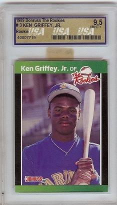 1989 Donruss The Rookies Ken Griffey JR USA 9.5 rookie card