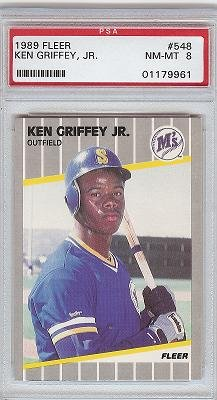 1989 Fleer Ken Griffey JR PSA 8 rookie card