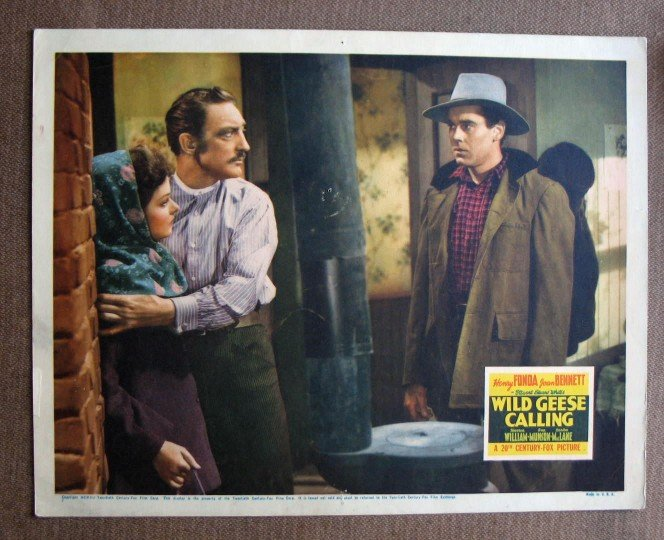CA50 Wild Geese Calling HENRY FONDA and JOAN BENNETT orig 1941 Lobby Card