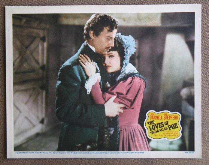 CC22 Loves Of Edgar Allan Poe LINDA DARNELL orig 1942 LC
