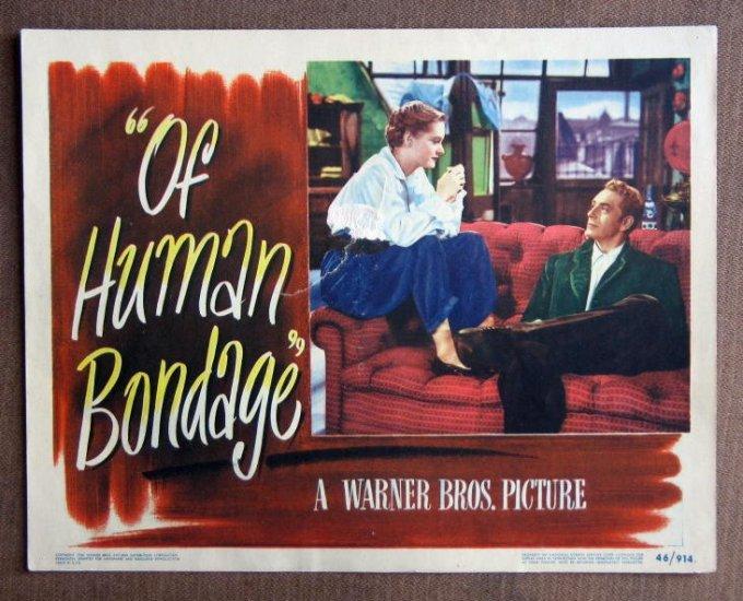 CD27 Of Human Bondage PAUL HENREID  1946 Lobby Card