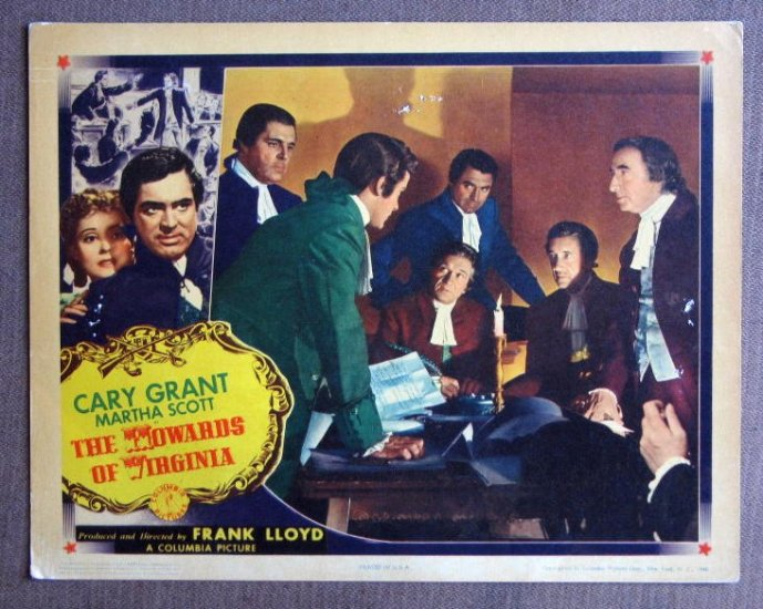CD29 Howards Of Virginia CARY GRANT Orig 1940 Lobby Card