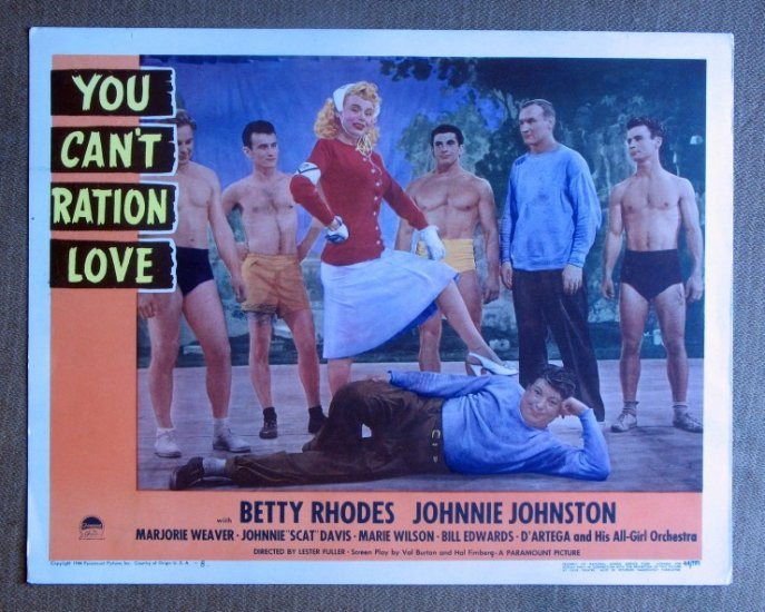 CF49 You Can't Ration MARIE WILSON Beefcake original 1944 lobby card