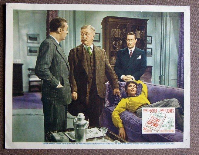 CH08 Cluny Brown JENNIFER JONES and CHARLES BOYER original 1941 lobby card
