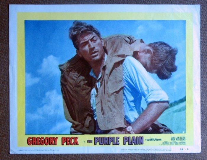 CF30 Purple Plain GREGORY PECK 1955 Portrait Lobby Card
