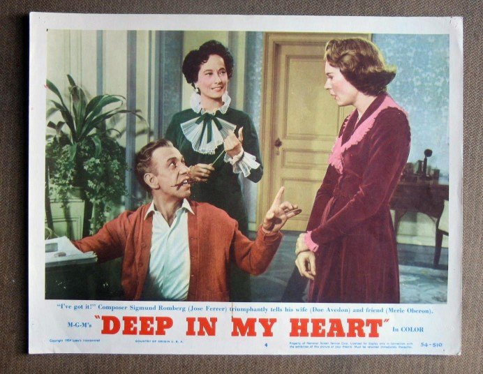 CG15 Deep In My Heart GENE KELLY and ANN MILLER original 1954 Title Lobby Card