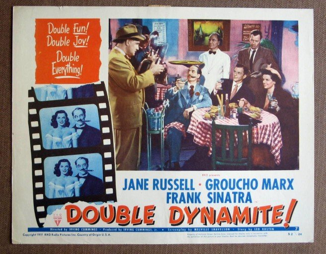CH15 Double Dynamite GROUCHO MARX and FRANK SINATRA original 1952 lobby card