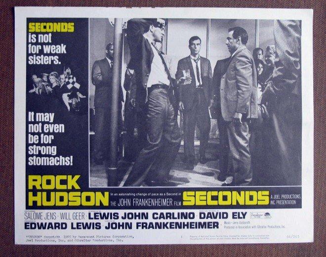 CH40 Seconds ROCK HUDSON Original 1966 Lobby Card