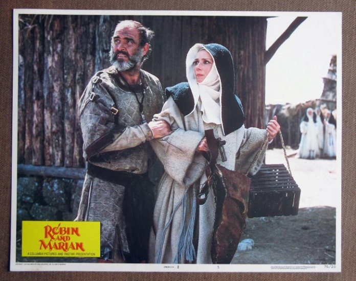 CI27 Robin & Marian AUDREY HEPBURN and SEAN CONNERY Lobby Card