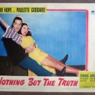 CJ33 Nothing But Truth BOB HOPE & PAULETTE GODDARD  Original 1941 Lobby Card