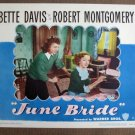 CL25 June Bride BETTE DAVIS   Original 1948 Lobby Card