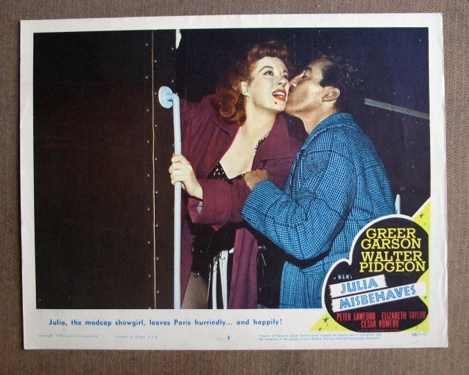 CN27 Julia Misbehaves GREER GARSON & WALTER PIDGEON Lobby Card