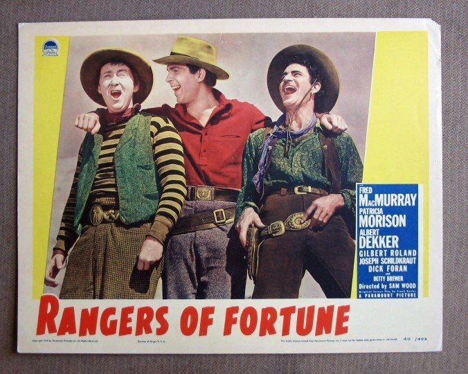 CN39 Rangers Of Fortune FRED MacMURRAY 1940 Lobby Card